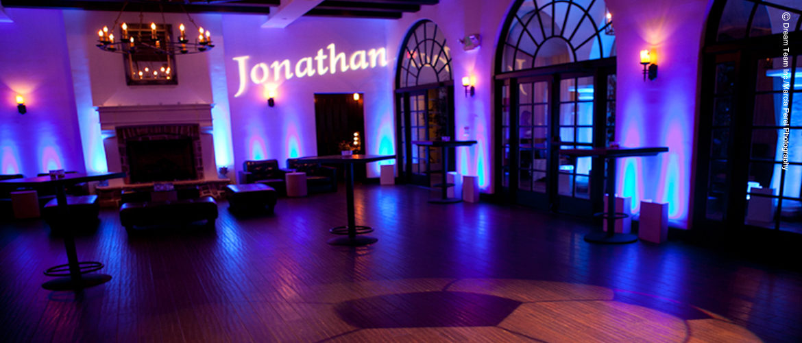 Los Angeles Name in Lights, Weddings, Gobo, Special Event Lighting