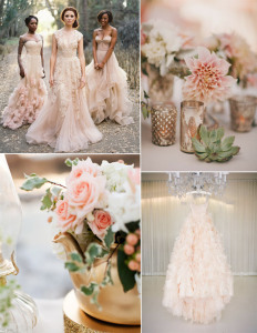 blush-pink-wedding-dresses-and-wedding-flower-decoration-ideas